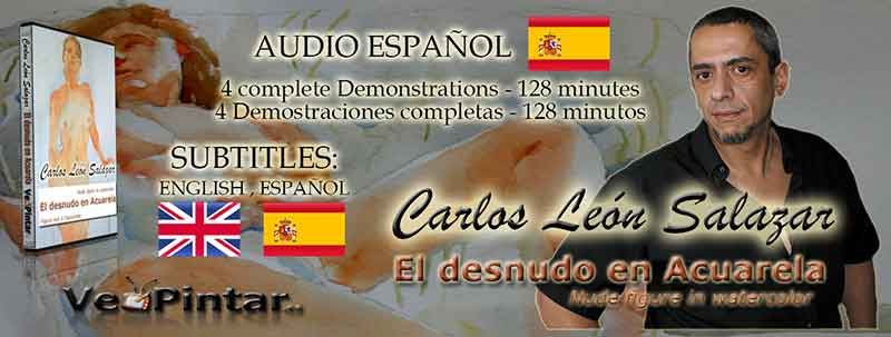 Carlos Leon Salazar - El desnudo en acuarela - Direct Download - Audio Castellano y subtitulos en Ingles