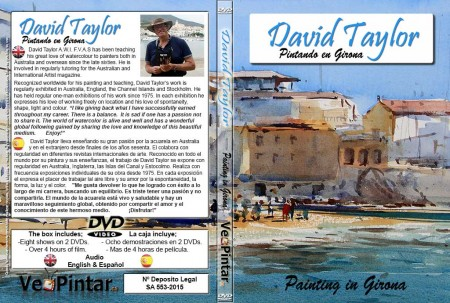 Caratula-DVD-David-Taylor-Painting-in-Girona-INGLES-Y-ESPAÑOL